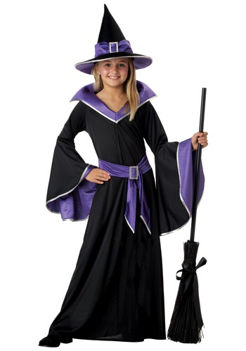 Girls Wicked Purple Witch Costume