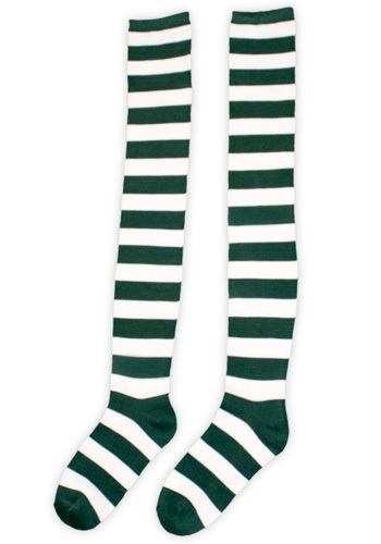 White and Green Munchkin Socks