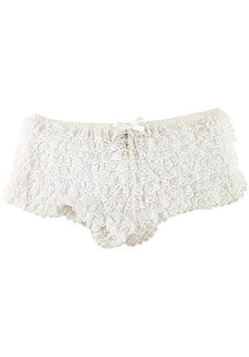 White Ruffle Tanga Panties