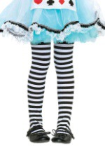Girls Striped Witch Tights