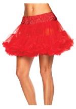 Red Tulle Petticoat Slip