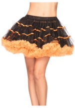 Orange and Black Tulle Scarecrow Petticoat