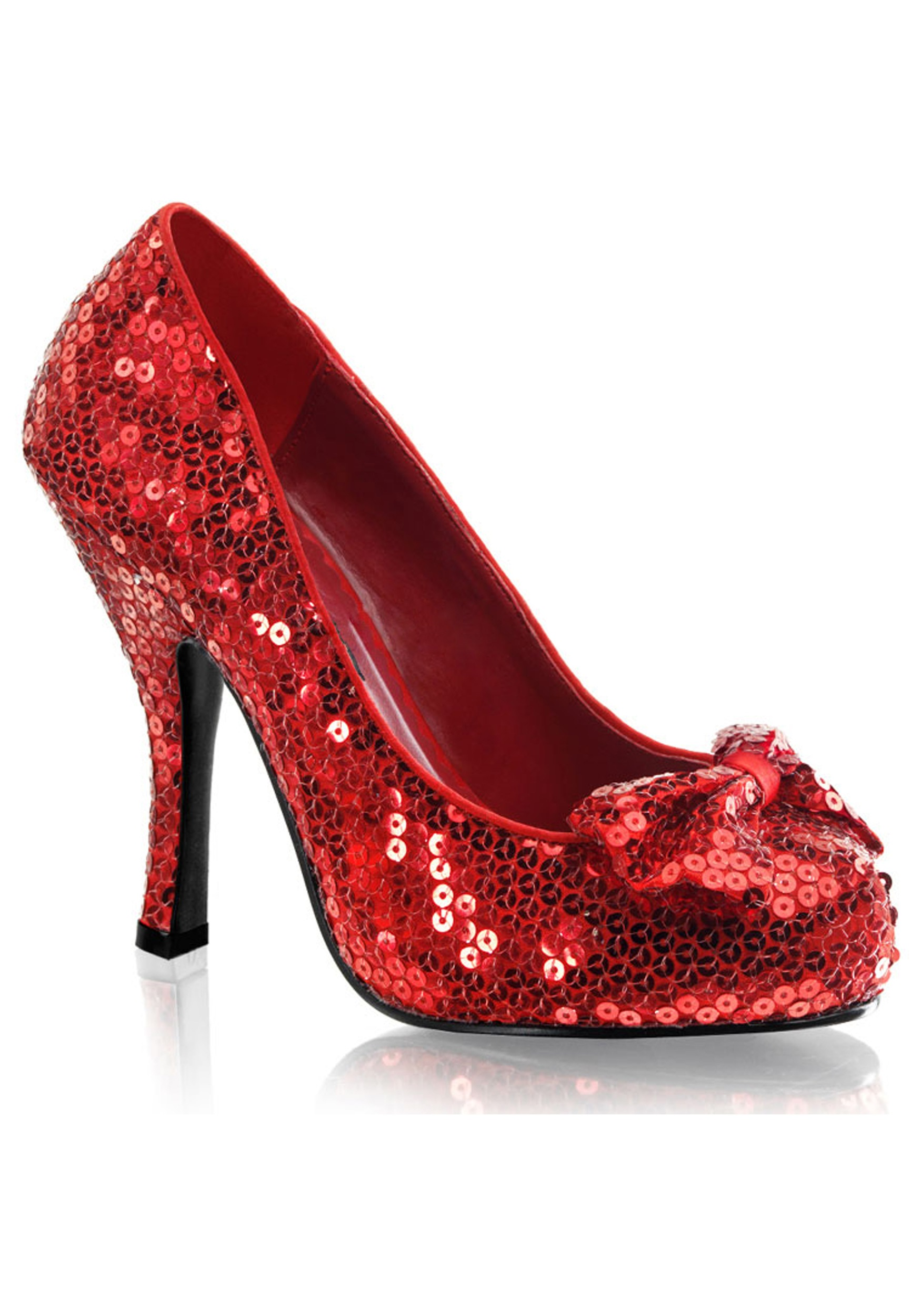Red Sequin Heels