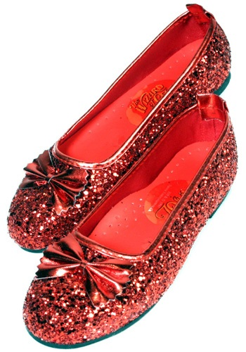 Ruby Red Girls Slippers