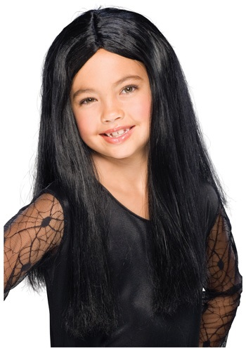 Girls' Black Witch Wig
