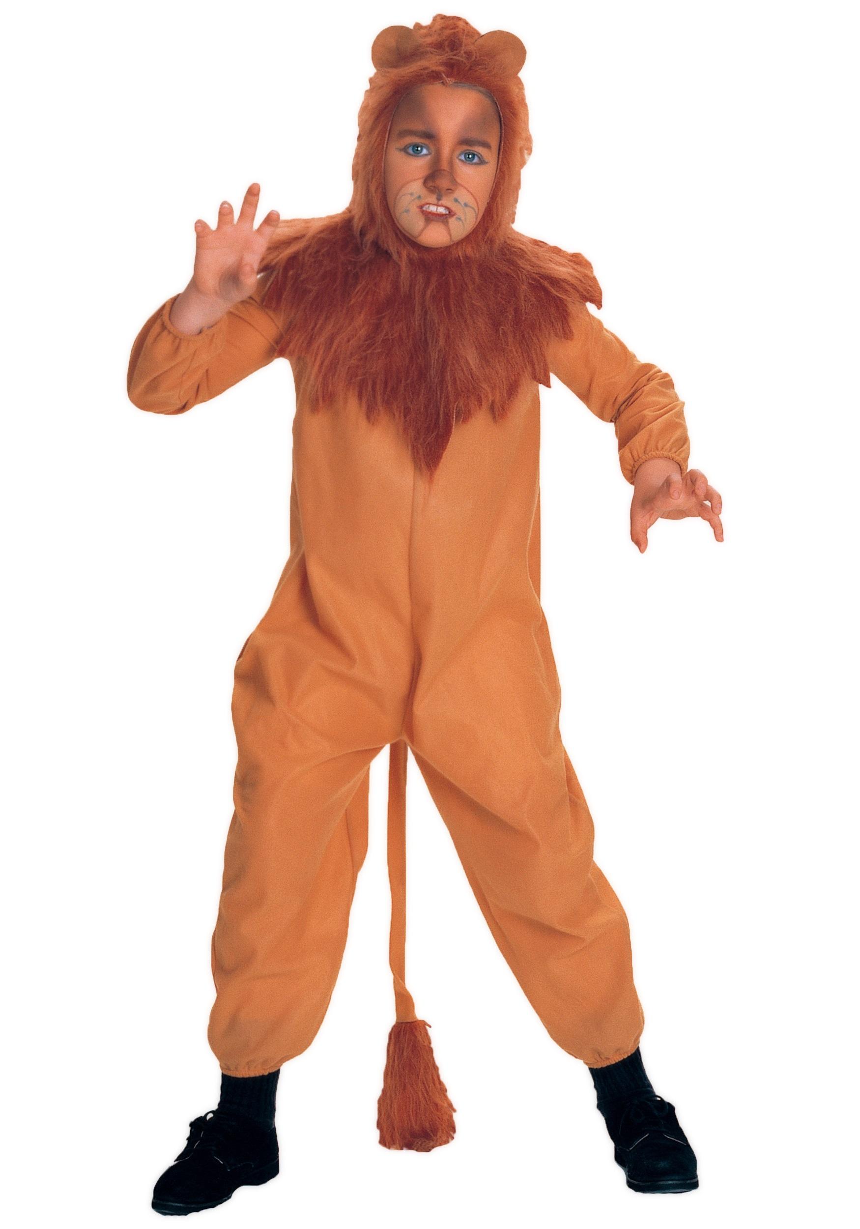 Cowardly Lion Costume - Adult, Kids Cowardly Lion Costumes
